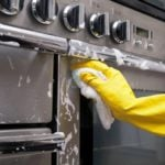 clean stainless steel appliances